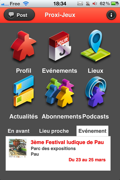 Application Proxi-Jeux
