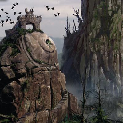 Les collines d'Emyn Muil