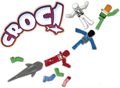 C'est le requin qui est une vraie pièce de Lego™, les mannequins n'en sont pas vraiment.