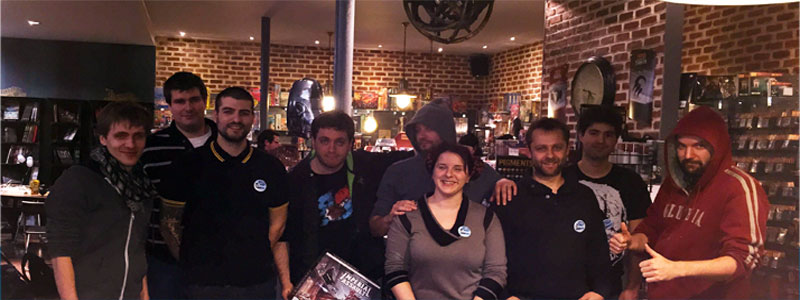 L'équipe Ludovox lors d'in live avec Dap à la boutique Ukronium (Lyon)