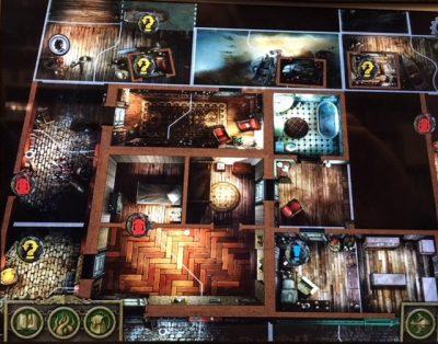 """Capture d'écran du """"plateau"""" de jeu proposé par l'application"""