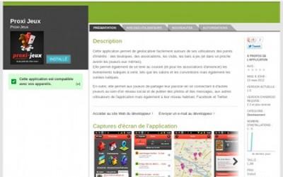 Application Proxi-Jeux