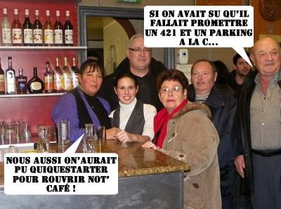 Si Raymonde avait su, elle aurait kickstarté pour sauver le Bar des Sports.