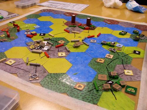 Roads & Boats, le jeu où on écrit sur le plateau !