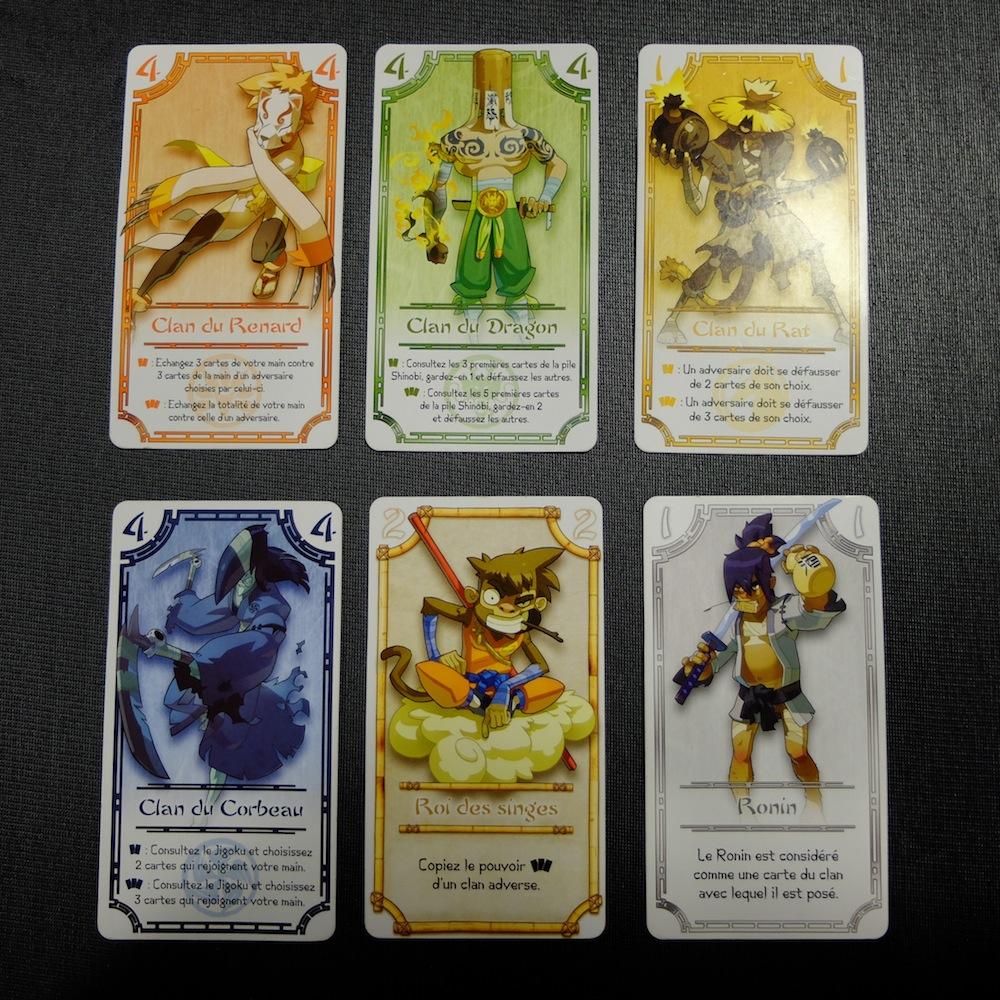 Les cartes de Shinobi.