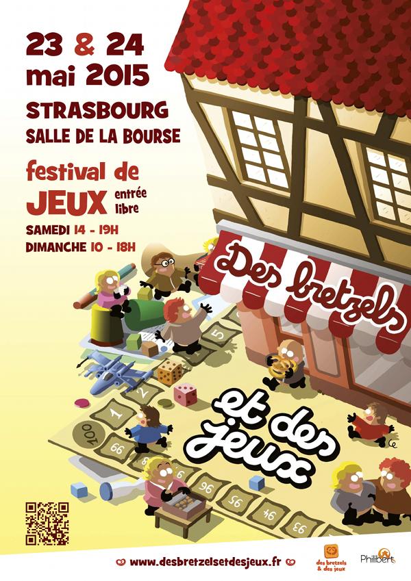 L'affiche du Festival des jeux de Strasbourg