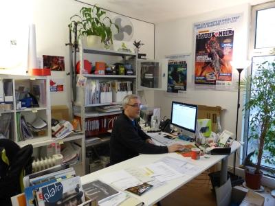 Vincent Vandelli a son poste de travail