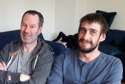 Patrice à gauche et Nils à droite