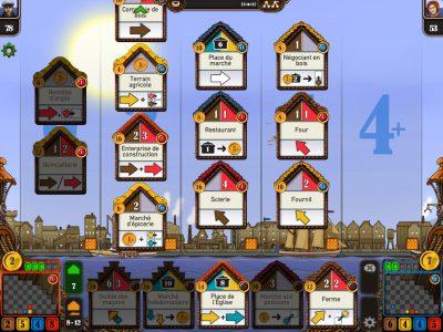 Impression d'écran du jeu - zone de gestion des bâtiments