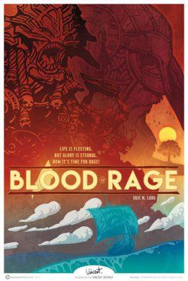 """Une affiche réalisée pour Boardgamegeek sur le thème du jeu """"Blood Rage"""""""