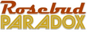 "Logo du prototype de jeu ""Rosebud Paradox"""