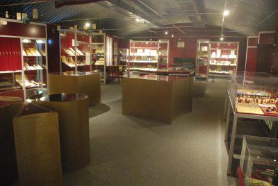 La salle de l'exposition permanente du musée des jeux