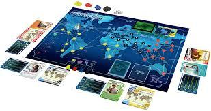 Le plateau de Pandemic Legacy -Saison 1